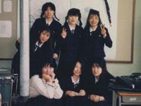 最後に担任した生徒たちと(1988年)